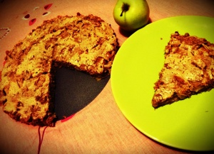 kolac sa jabukama i ovsenim pahuljicama