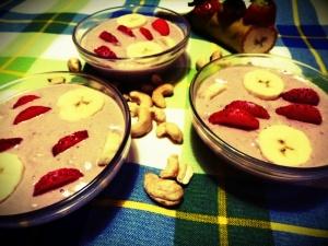 sirovi veganski puding od jagode